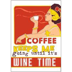 Coffee Wine Fridge Magnet