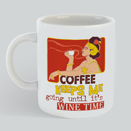 Coffee Wine Time Mug