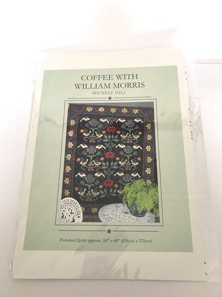 Coffee with William Morris Applique Quilt Pattern