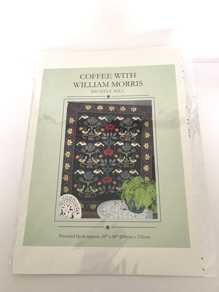 Coffee with William Morris Applique Quilt Pattern