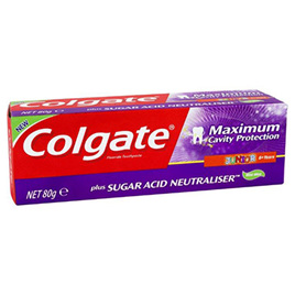 Colgate Maximum Cavity Protection Junior 80gm ( Sugar Acid Neutraliser)