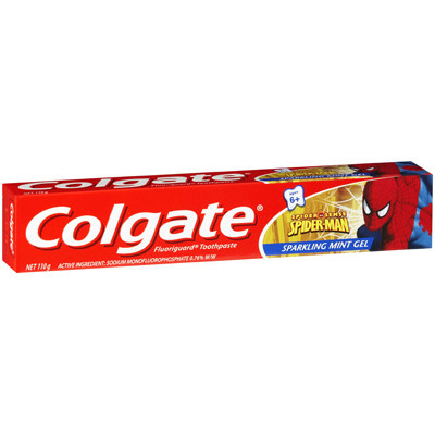 Colgate Spiderman Sparkling Mint Gel 110gm