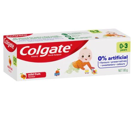 COLGATE TOOTHPASTE KIDS MILD FRUIT 0-3 YEARS 80G