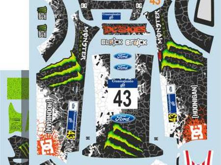 Colorado Decals 1/24 FORD FIESTA RS WRC - KEN BLOCK #43 - RALLY MEXICO 2012