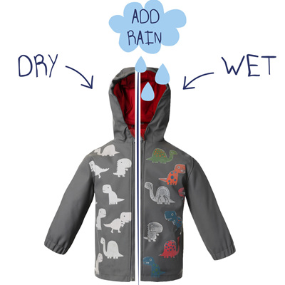 Colour Changing Boys Dino Jacket