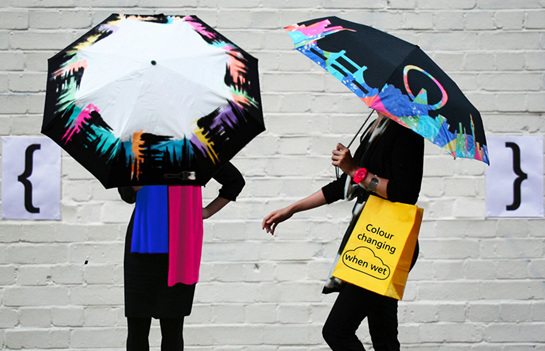 Colour changing rainwear for Adults and Children.