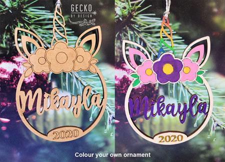 Colour your own Unicorn Ornament