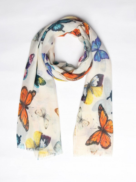 Coloured Butterfly Scarf