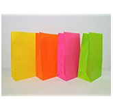 Coloured paper bag x 10
