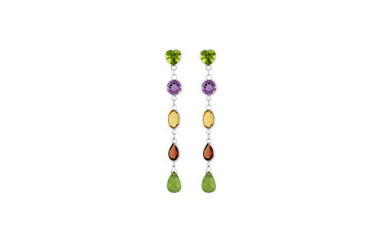 coloured-stones-drop-stud-earrings-peridot-amethyst-citrine-garnet-white-gold