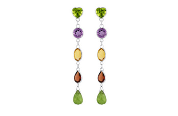 Spritz of Colour Drop Stud Earrings