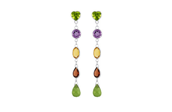 coloured-stones-drop-stud-earrings-peridot-amethyst-citrine-garnet-white-gold