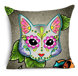 Colourful Cat Cushion Cover  -no.2