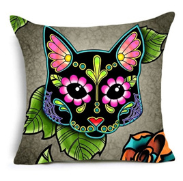 Colourful Cat Cushion Cover  -no.1