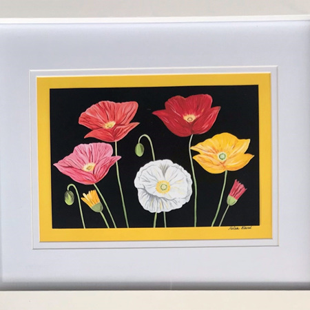 Colourful Poppies Print in 8x10' Frame