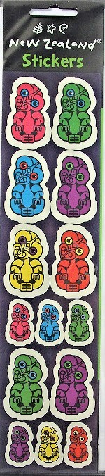 Colourful Tiki Stickers