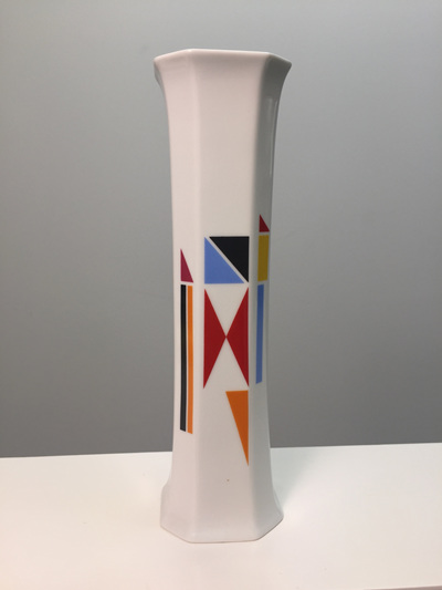 Colourful Vintage Hans Theo Baumann Porcelain Vase