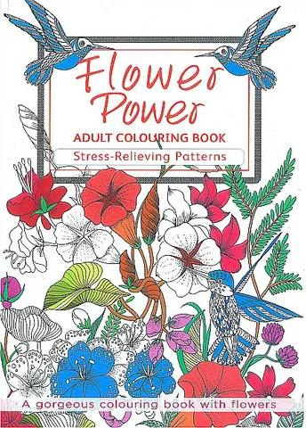 Colouring for Adults - Flower Power