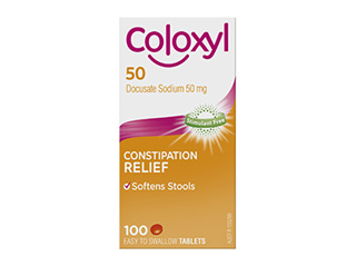 COLOXYL  50MG TABLET 100