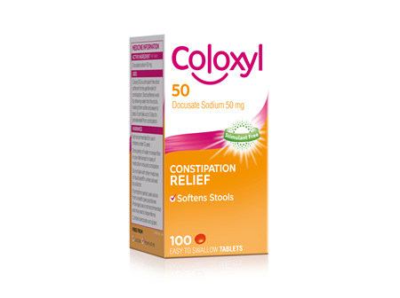 Coloxyl 50mg  tablets 100s