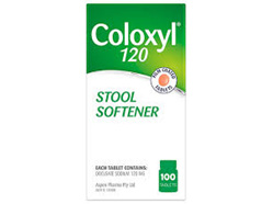 COLOXYL TAB 120MG 100