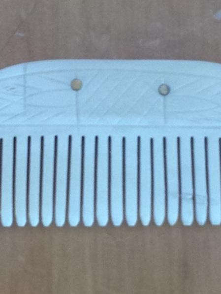 Comb 3 - Bone Comb with Single Row of Teeth