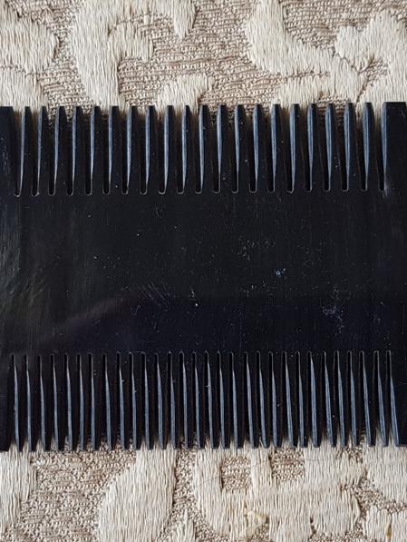 Comb 4 - Bone Comb with Double Row of Teeth