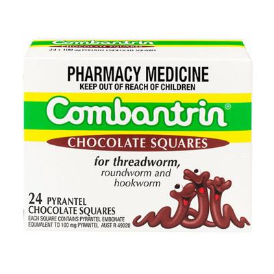 COMBANTRIN Chocolate Squares 24
