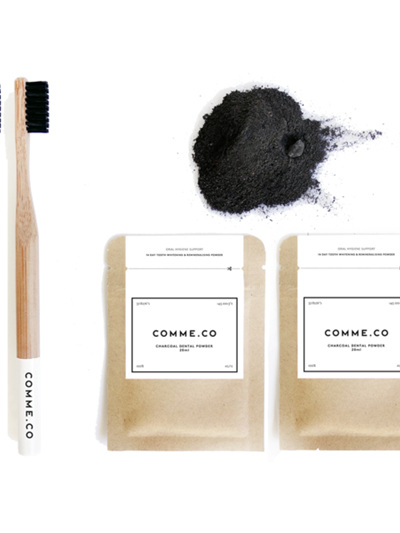 Comme.Co Eco Friendly Bamboo Toothbrush Black