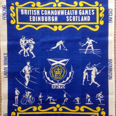 Commonwealth Games 1970 Tea Towel