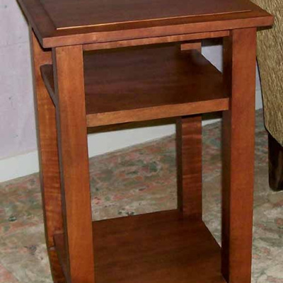 Charters Side Table with Two Shelves