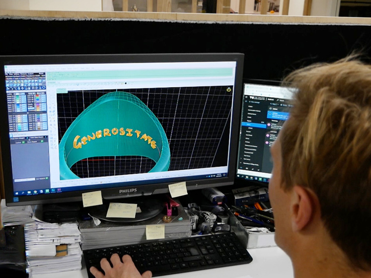 Computer Aided Design Engineer Rendering Luke's Signet Ring Design