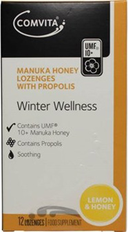 Comvita Manuka Honey Lozenges Lemon  Honey 12s