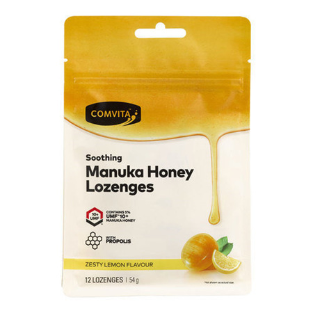 Comvita Manuka Honey Lozenges - Lemon & Honey 12s