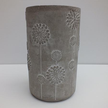 Concrete  round flower pot C3479
