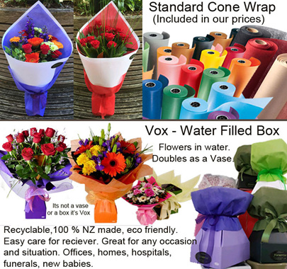 Cone wrap or water filled box Vox