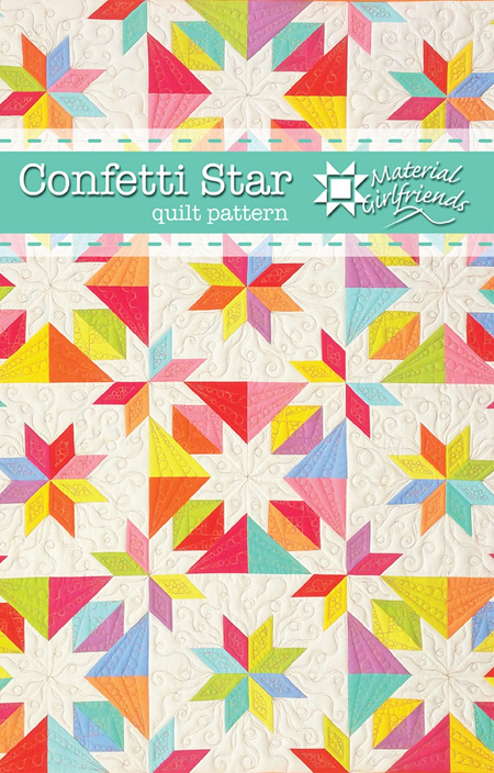 Confetti Star Quilt Pattern from Material Girlfriends