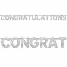 Congratulations - Silver Jointed Banner 6.8ft