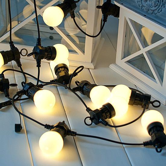 Connectable Vintage Festoon LED Lights 5m - Warm White ...