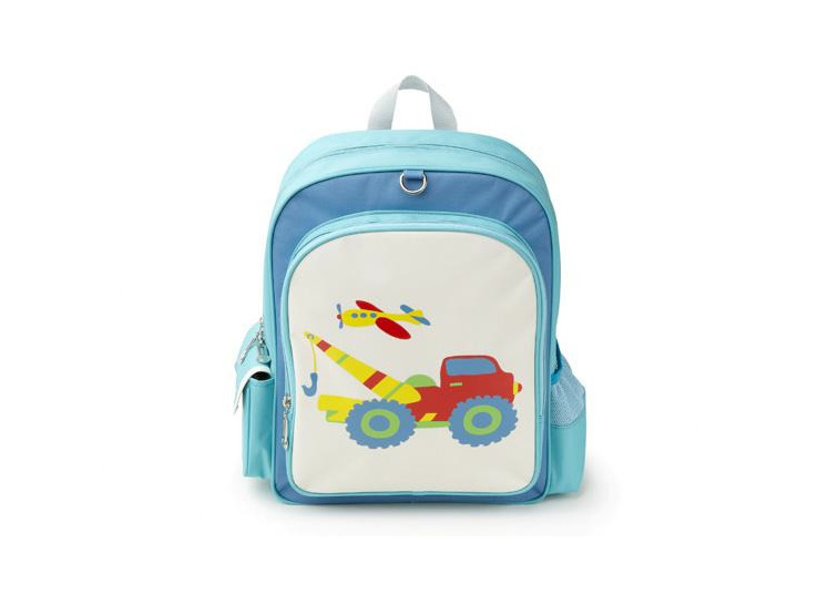 Construction back pack for school or preschool