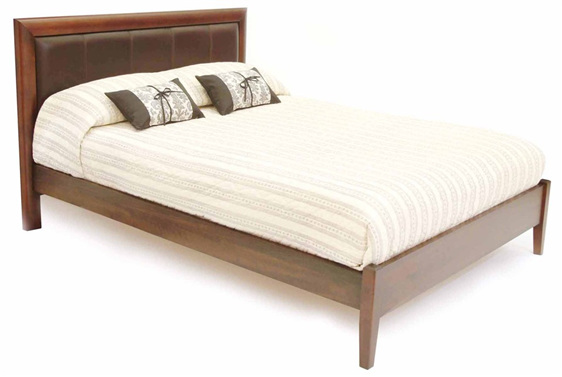 Contemporary Bed with panelled Headboard