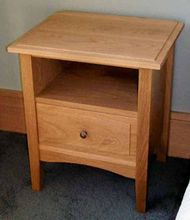 Hilton Bedside Cabinet Shelf & Drawer