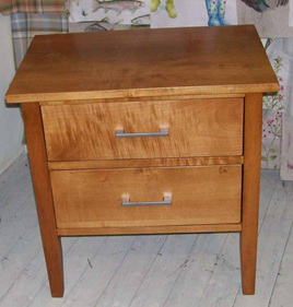 Hilton Bedside Cabinet Two Drawers