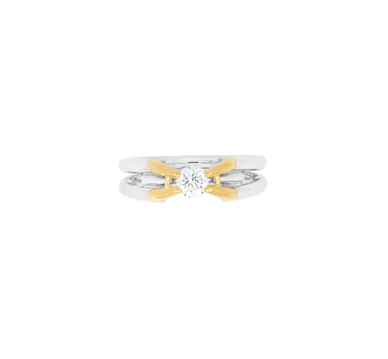Contemporary Brilliant Cut Diamond Ring