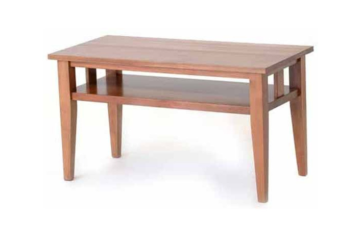 Contemporary design coffee table with open rails