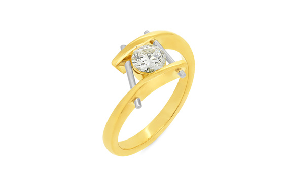 contemporary diamond ring design