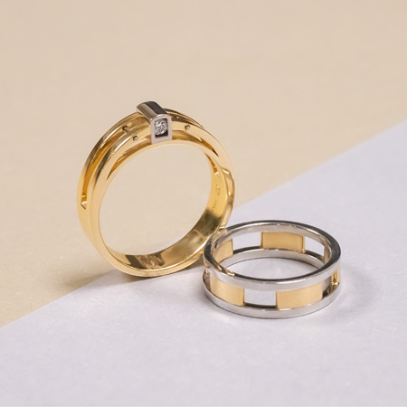 Contemporary Men's Wedding Rings