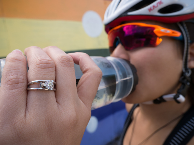 contemporary, practical, wearable engagement ring design