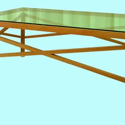 Bellini Glass Top & criss cross rails