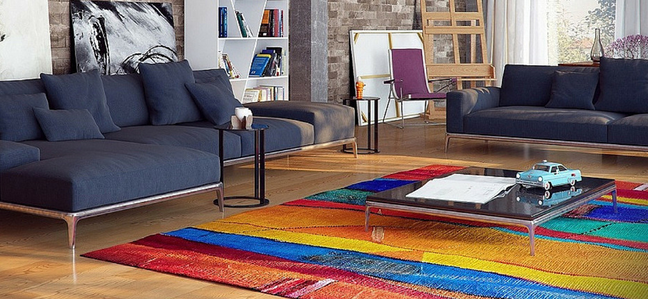 Contemporary Style Floor Rug